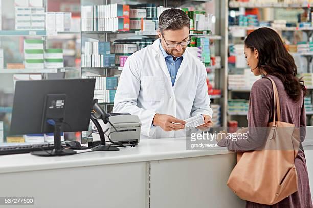 un veces es simplemente más fácil un pie en una farmacia.