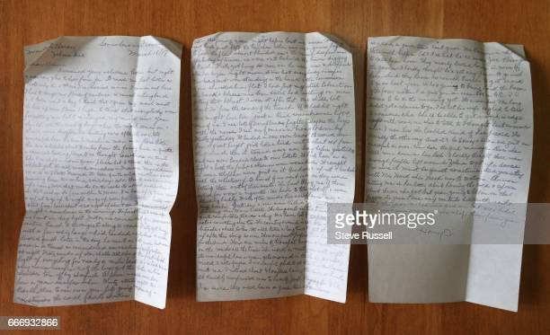 TORONTO ON APRIL 3 'Somewhere in France' March 18th Harry A Chalmers wrote this letter to Annie Heron just before battle of Vimy North York resident...