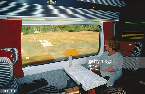 Somewhere in France the TGV makes it way, very quickly