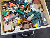 Old drawer full of things that just might be useful! Doesn't everyone have one of those?