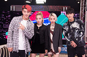 KARD And Trinity Likins Visit Young Hollywood Studio