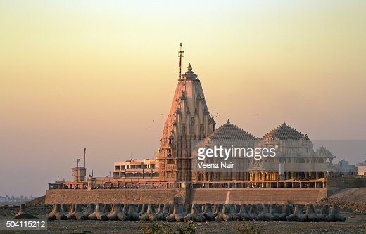 Somnath temple at sunset-Gujarat
