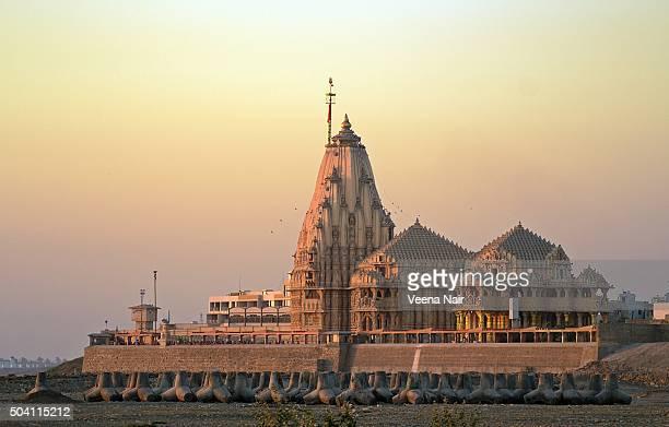 Somnath temple at sunset-Gujarat