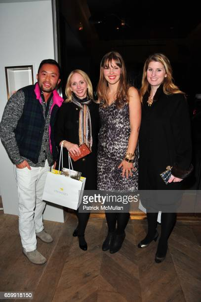Somsack Sikhounmuong Lara Glazier Christine Tasche and Kelly Mallon attend CREWCUTS celebrate 'Mimi's Shoes' with the WILDLIFE CONSERVATORY SOCIETY...