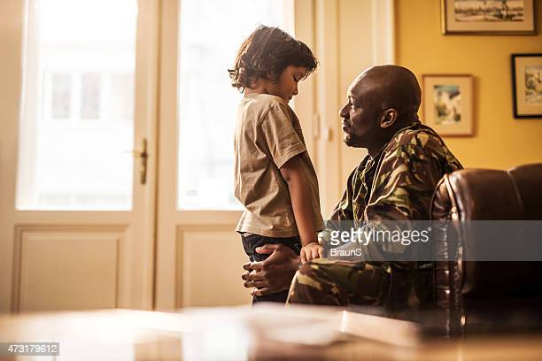 Son, daddy has to go to defend the country.