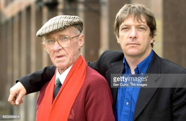 Son James Traynor puts his arm around his smoker father David Franny Traynor from Milngavie who is suing Imperial Tobacco after developing heart...