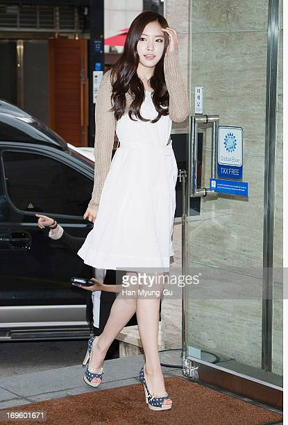 Son NaEun of South Korean girl group A Pink attends during a promotional event for the 'TwinSet' at Gangnam store on May 28 2013 in Seoul South Korea