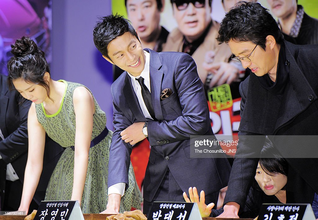 Son Na-Eun, Yoon Du-Jun, and Jung Jun-Ho attend the 'Return Of The Family' press conference at KonKuk University on November 19, 2012 in Seoul, South Korea.