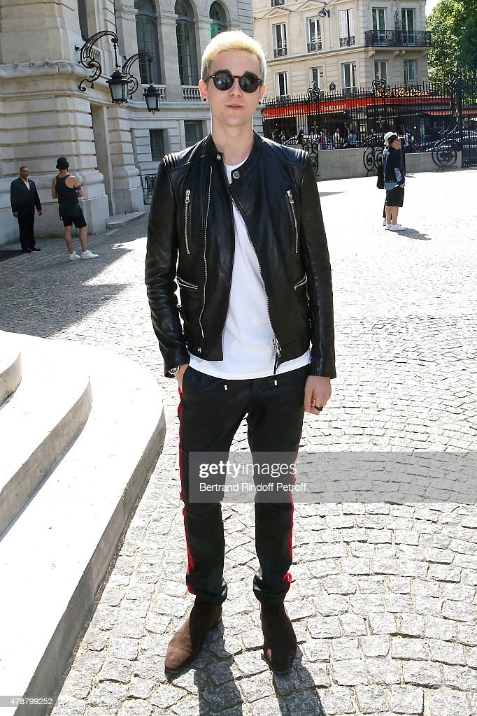 Son of Daniel Day-Lewis and Isabelle Adjani, Singer Gabriel-Kane Day-Lewis whose album 'Very Scar is a heding' will come out in July, attends the Balmain Menswear Spring/Summer 2016 show as part of Paris Fashion Week on June 27, 2015 in Paris, France.