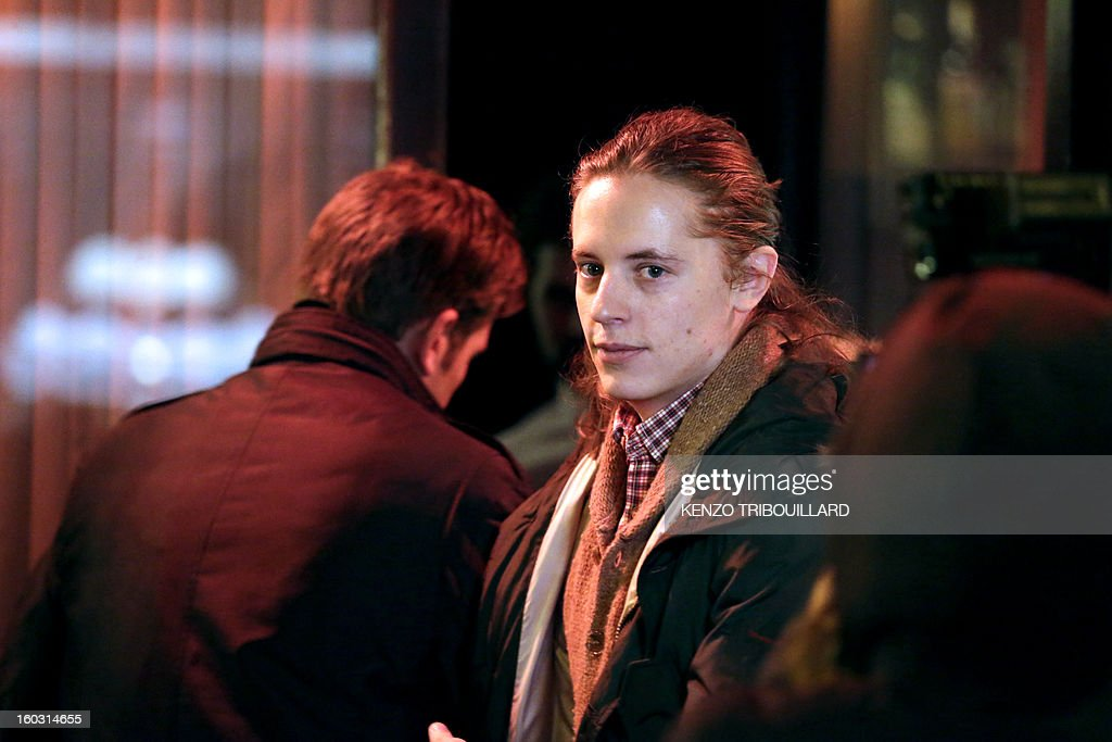 Son of French former President Pierre Sarkozy, leaves the Rebelatto restaurant after a dinner with relatives to celebrate Nicolas Sarkozy's 58th birthday, on January 28, 2013 in Paris.