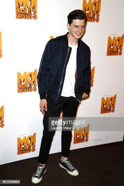 Son of Gad Elmaleh Noe Elmaleh attends 'Moi Moche et Mechant 3' Paris Premiere at Cinema Gaumont Marignan on June 27 2017 in Paris France