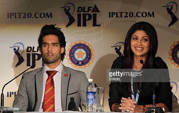 Son of Indian businessman and owner of 'Royal Challengers Bangalore' Indian Premier League cricket team Vijaya Mallya Siddarth Mallya sits with...