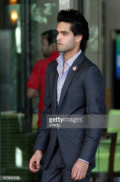 Son of Indian businessman and owner of ' Royal Challengers Bangalore' Indian Premier League cricket team Vijay Mallya Siddharth Mallya arrives to...
