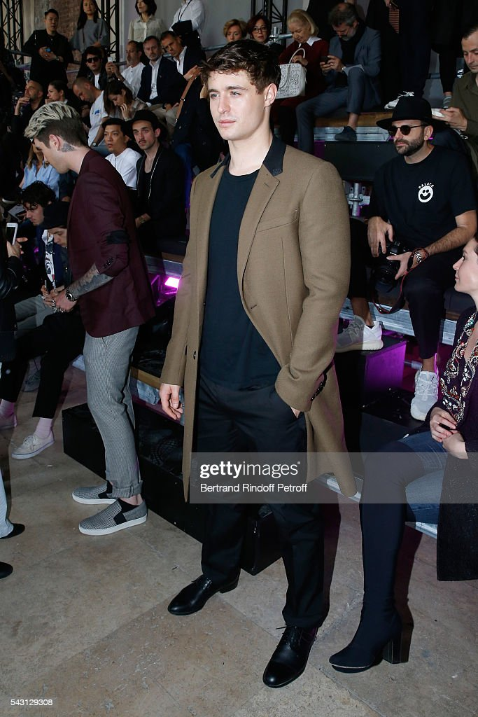 Son of Jeremy Irons attends the Lanvin Menswear Spring/Summer 2017 show as part of Paris Fashion Week on June 26, 2016 in Paris, France.