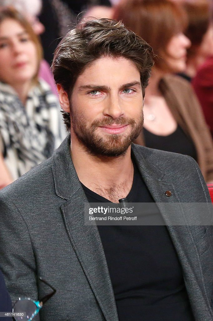 Son of Main guest of the show Michel Leeb, Tom Leeb attends the 'Vivement Dimanche' French TV Show at Pavillon Gabriel on January 7, 2015 in Paris, France.