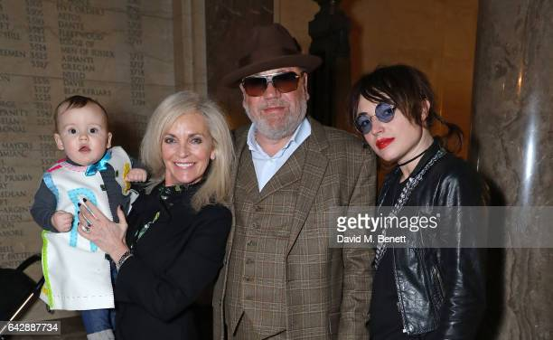 son Raymond Suckling Elaine Winstone Ray Winstone and Lola Winstone attend the Pam Hogg show during the London Fashion Week February 2017 collections...