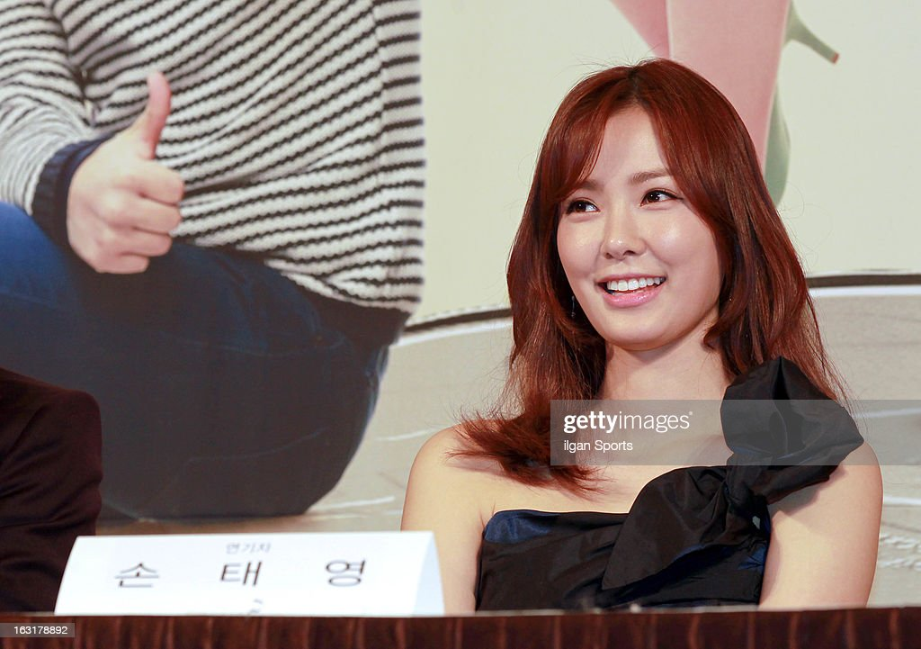 Son Tae-Young attends the KBS 2TV 'You're The Best Lee Soon-Shin' Press Conference at Seoul Plaza on March 4, 2013 in Seoul, South Korea.