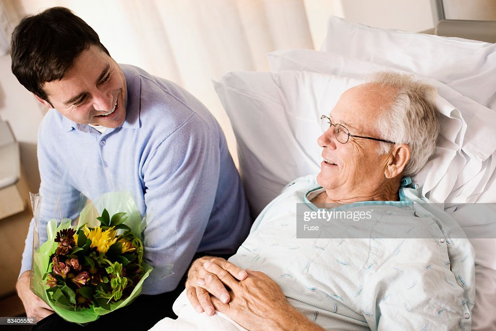 Son Visiting Father in Hospital