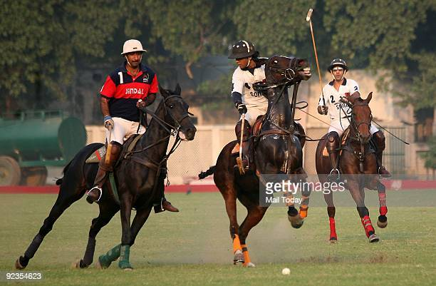 Sona Polo in action against the Jindal Steel Power at the Pataudi Cup Polo finals in New Delhi on Sunday October 25 2009