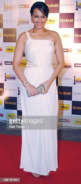 Sonakshi Sinha at '56th Idea Filmfare' awards nominations bash at JW Marriott Mumbai on January 19 2011