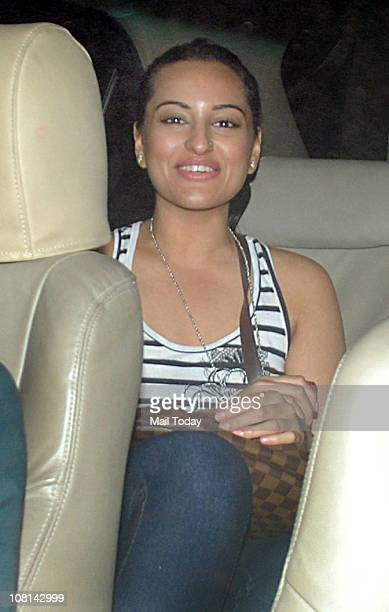 Sonakshi Sinha at the special screening of the movie Dhobi Ghat at Yashraj Studios Mumbai on January 18 2011