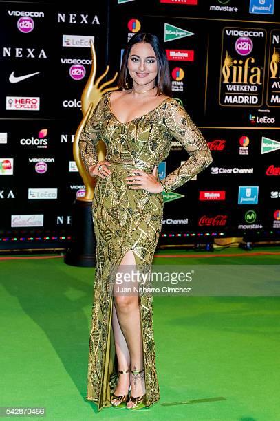 Sonakshi Sinha attends IIFA Awards 2016 Rocks Green Carpet at Ifema on June 24 2016 in Madrid Spain