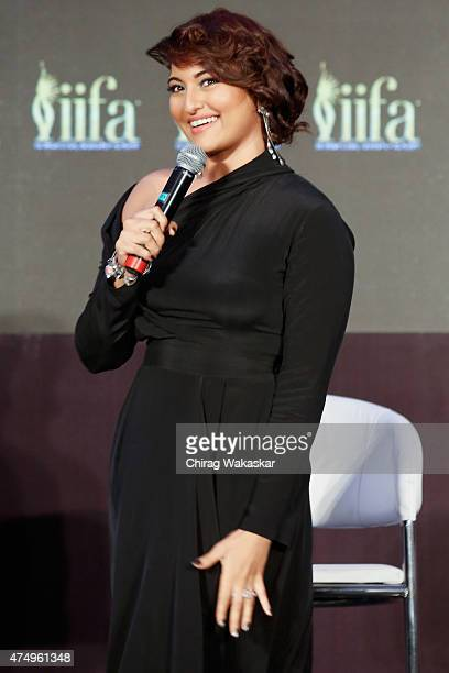 Sonakshi Sinha attends the IIFA 2015 press conference held at Grand Hyatt on May 28 2015 in Mumbai India