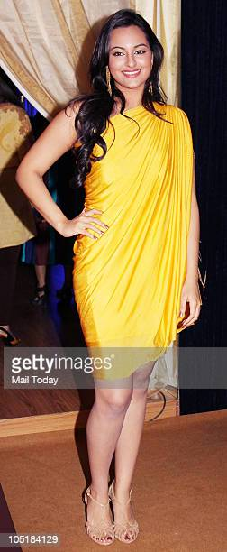 Sonakshi Sinha during the 'Being Human' foundation show at day four of the HDIL Couture week in Mumbai on October 9 2010