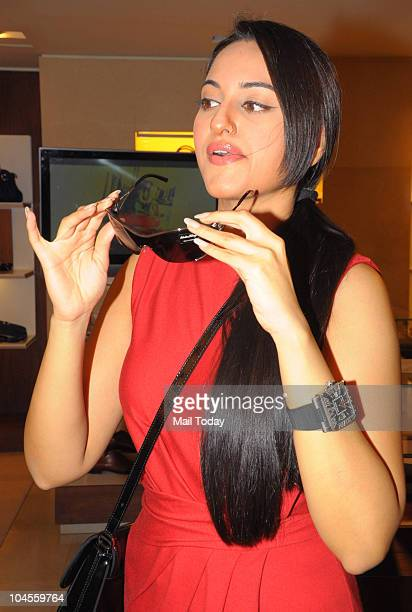 Sonakshi Sinha during the launch of the 'My Ferragamo' collection by Salvatore Ferragamo in Mumbai on September 28 2010