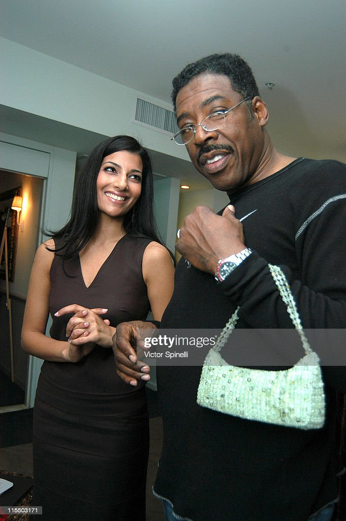 Sonal Adhikari and Ernie Hudson during TMG Luxury Suite Day 2 at Luxe Hotel in Beverly Hills California United States