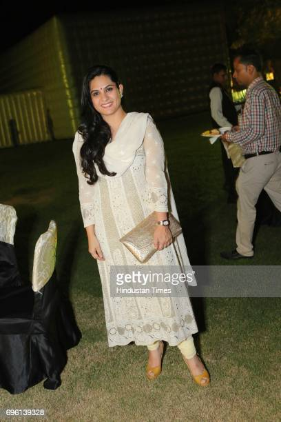 Sonal Jindal during the screening of a biography based on Munda's life a tribute to tribal leader and freedom fighter Birsa Munda on June 9 2017 in...