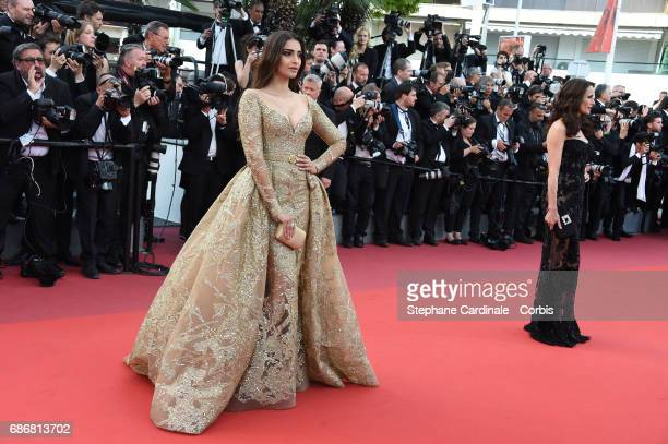 Sonam Kapoor and Andie MacDowell attend the 'The Killing Of A Sacred Deer' screening during the 70th annual Cannes Film Festival at Palais des...
