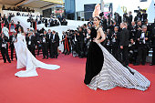 Sonam Kapoor and Araya A Hargate attend the 'From The Land Of The Moon ' premiere during the 69th annual Cannes Film Festival at the Palais des...