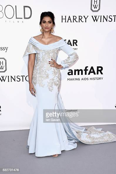 Sonam Kapoor arrives at amfAR's 23rd Cinema Against AIDS Gala at Hotel du CapEdenRoc on May 19 2016 in Cap d'Antibes France