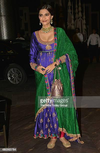 Sonam Kapoor at the wedding reception of Shahid Kapur and Mira Rajput in Mumbai
