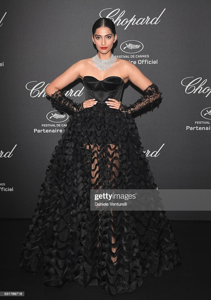 <a gi-track='captionPersonalityLinkClicked' href=/galleries/search?phrase=Sonam+Kapoor&family=editorial&specificpeople=4504004 ng-click='$event.stopPropagation()'>Sonam Kapoor</a> attends Chopard Wild Party as part of The 69th Annual Cannes Film Festival at Port Canto on May 16, 2016 in Cannes, France.
