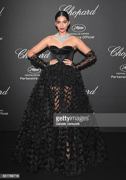 Sonam Kapoor attends Chopard Wild Party as part of The 69th Annual Cannes Film Festival at Port Canto on May 16 2016 in Cannes France