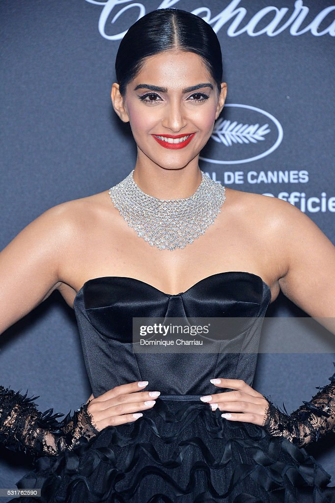 Sonam Kapoor attends the Chopard Party at Port Canto during the 69th annual Cannes Film Festival on May 16 2016 in Cannes France