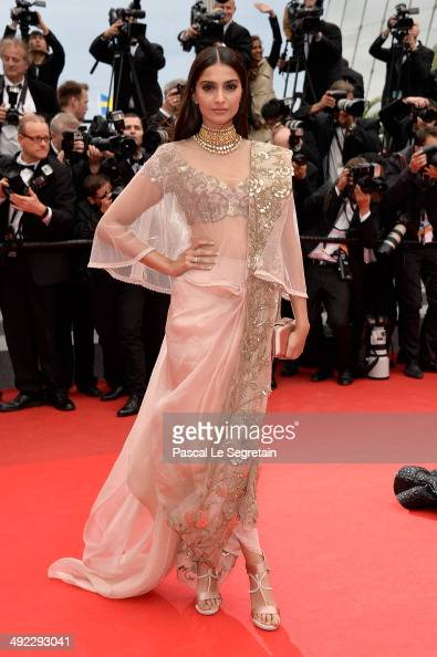 Sonam Kapoor attends the 'Foxcatcher' premiere during the 67th Annual Cannes Film Festival on May 19 2014 in Cannes France