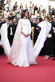 CANNES FRANCE MAY 15 Sonam Kapoor attends the 'From The Land Of The Moon ' premiere during the 69th annual Cannes Film Festival at the Palais des...