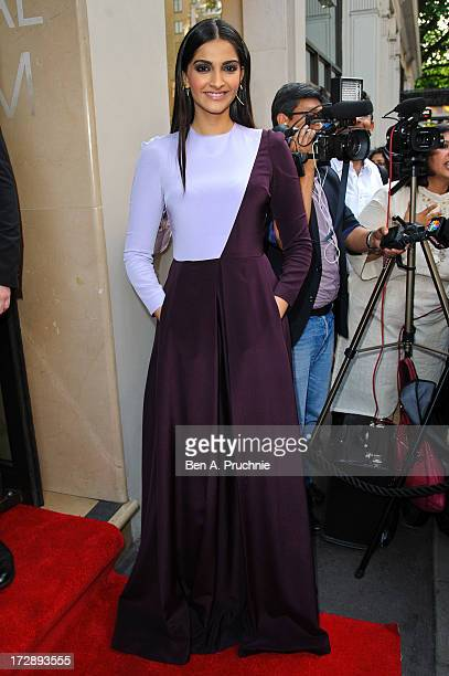Sonam Kapoor attends the gala screening of 'Bhaag Milkha Bhaag' at The Mayfair Hotel on July 5 2013 in London England