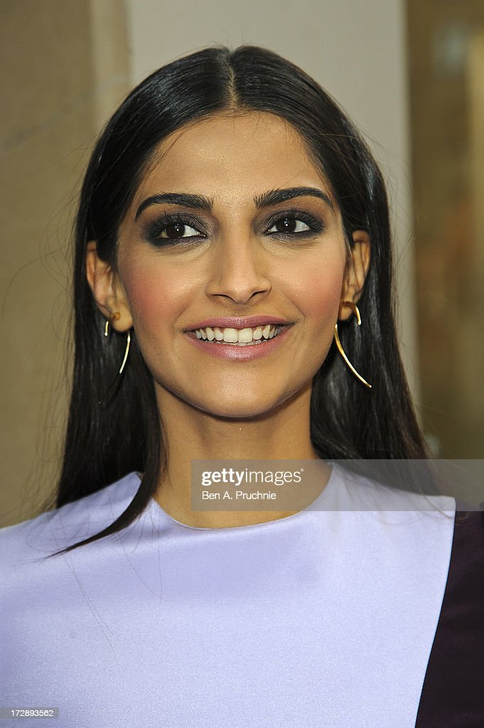 Sonam Kapoor attends the gala screening of 'Bhaag Milkha Bhaag' at The Mayfair Hotel on July 5, 2013 in London, England.