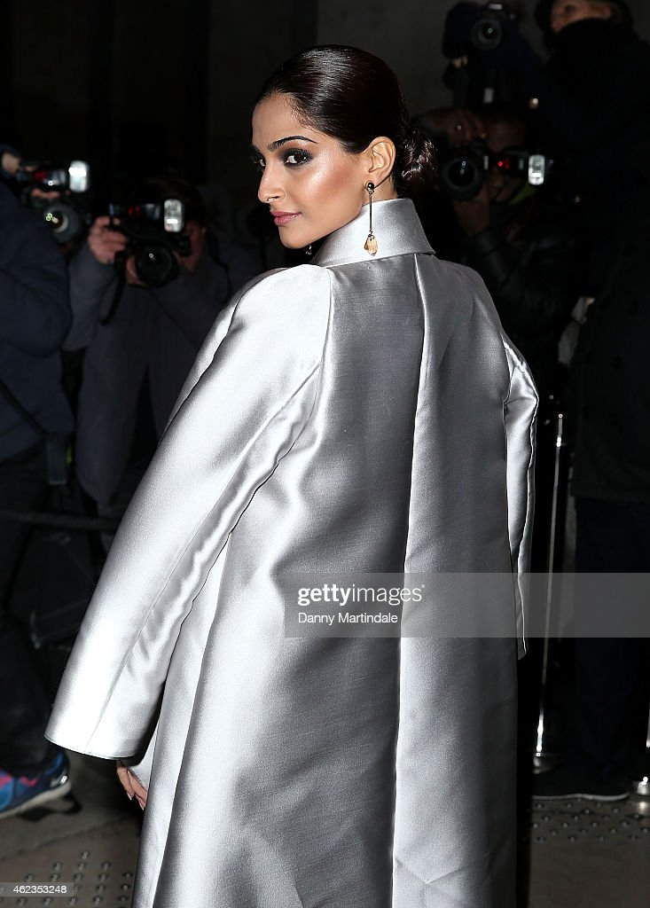 Sonam Kapoor attends the Giorgio Armani Prive show on day 3 of Paris Fashion Week Haute Couture S/S 2015 on January 27 2015 in Paris France