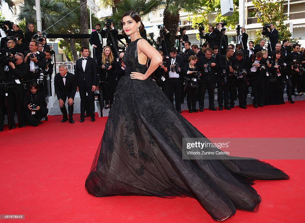 Sonam Kapoor attends 'The Homesman' premiere during the 67th Annual Cannes Film Festival on May 18, 2014 in Cannes, France.