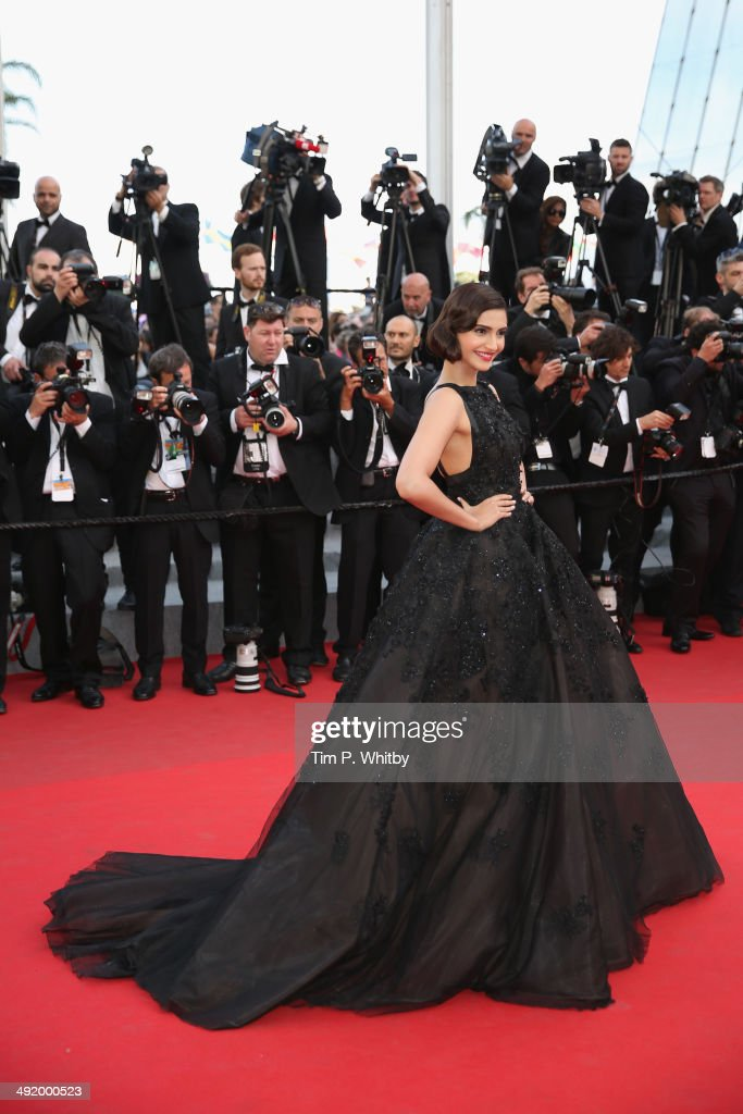 <a gi-track='captionPersonalityLinkClicked' href=/galleries/search?phrase=Sonam+Kapoor&family=editorial&specificpeople=4504004 ng-click='$event.stopPropagation()'>Sonam Kapoor</a> attends 'The Homesman' premiere during the 67th Annual Cannes Film Festival on May 18, 2014 in Cannes, France.