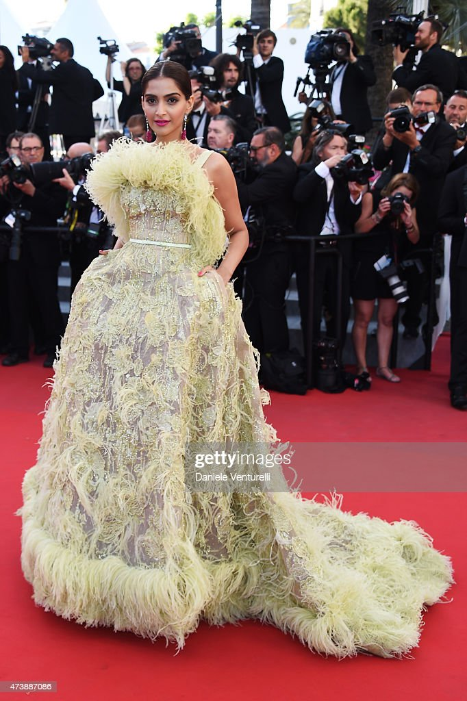 <a gi-track='captionPersonalityLinkClicked' href=/galleries/search?phrase=Sonam+Kapoor&family=editorial&specificpeople=4504004 ng-click='$event.stopPropagation()'>Sonam Kapoor</a> attends the 'Inside Out' Premiere during the 68th annual Cannes Film Festival on May 18, 2015 in Cannes, France.