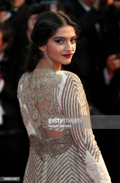 Sonam Kapoor attends the Opening Ceremony and premiere of 'The Great Gatsby' during the 66th Annual Cannes Film Festival at Palais des Festivals on...