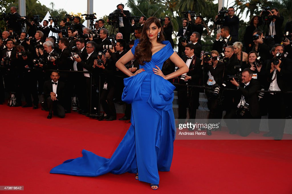 Sonam Kapoor attends the Premiere of 'The Sea Of Trees' during the 68th annual Cannes Film Festival on May 16 2015 in Cannes France