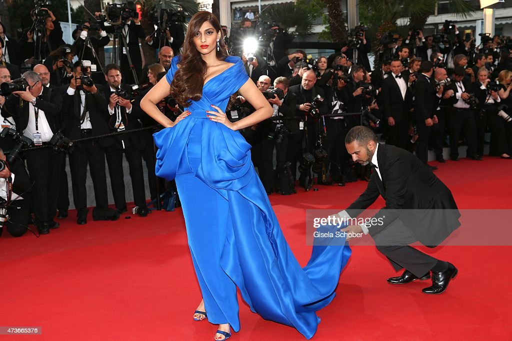 Sonam Kapoor attends the Premiere of 'The Sea Of Trees' during the 68th annual Cannes Film Festival on May 16, 2015 in Cannes, France.