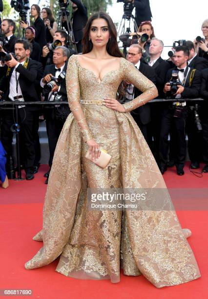 Sonam Kapoor attends the 'The Killing Of A Sacred Deer' screening during the 70th annual Cannes Film Festival at Palais des Festivals on May 22 2017...